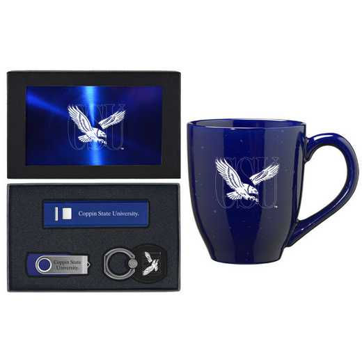 SET-A2-COPPIN-BLU: LXG Set A2 Tech Mug, Coppin State